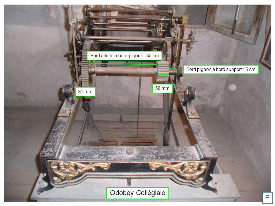 Odobey Collégiale F Bord ailette à bord pignon : 35 cm