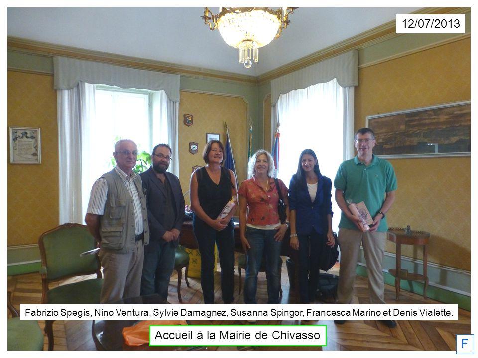 Accueil à la Mairie de Chivasso