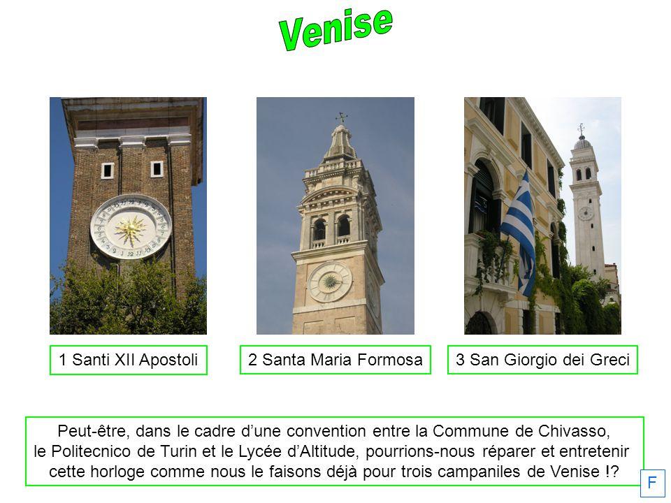 Venise 1 Santi XII Apostoli. 2 Santa Maria Formosa. 3 San Giorgio dei Greci.