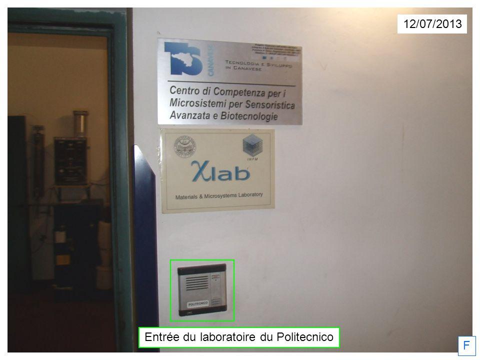 Entrée du laboratoire du Politecnico