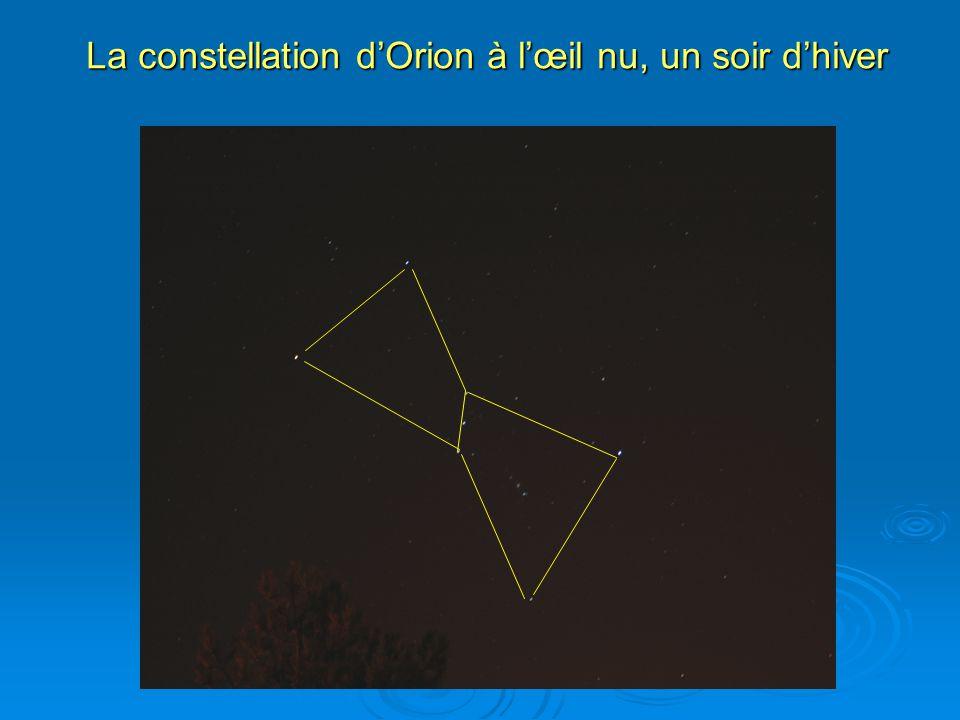 La constellation d'Orion à l'œil nu, un soir d'hiver