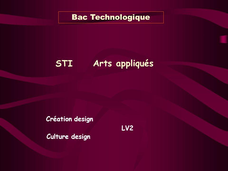 STI Arts appliqués Bac Technologique Culture design Création design