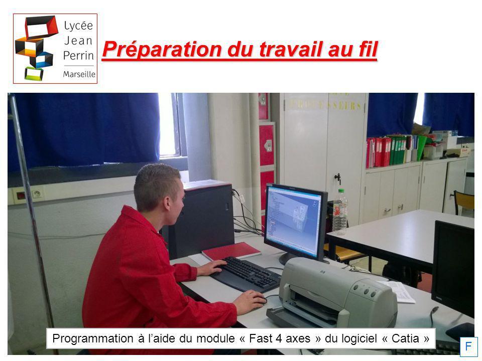 Programmation à l'aide du module « Fast 4 axes » du logiciel « Catia »