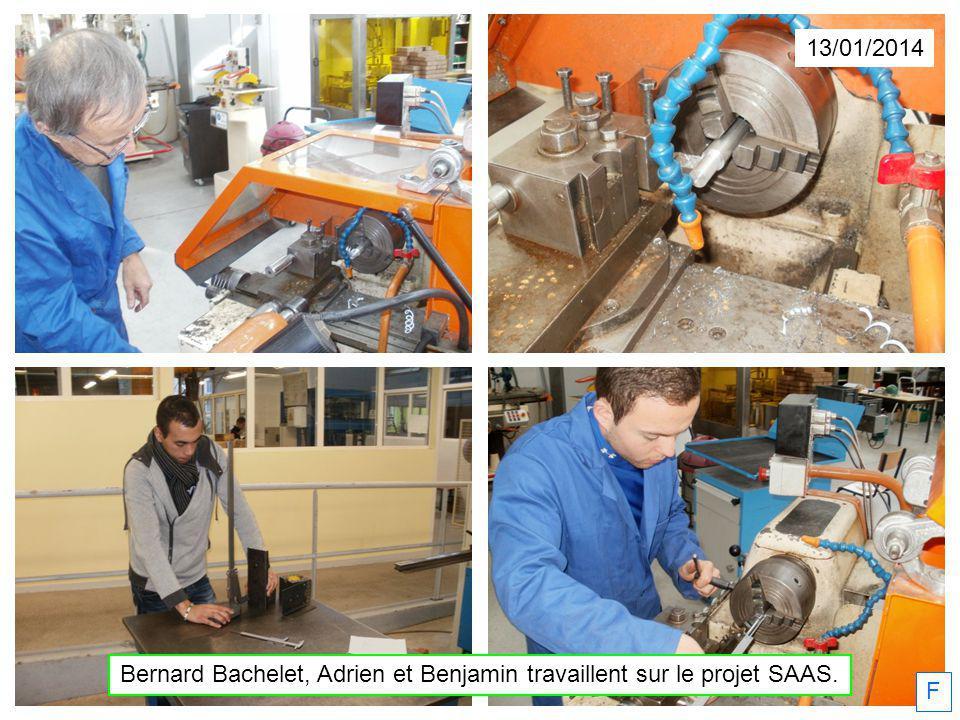 Bernard Bachelet, Adrien et Benjamin travaillent sur le projet SAAS.