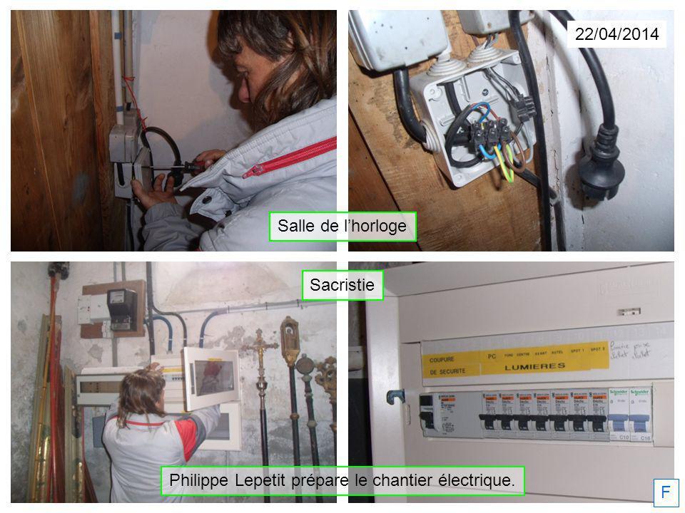 Philippe Lepetit prépare le chantier électrique.