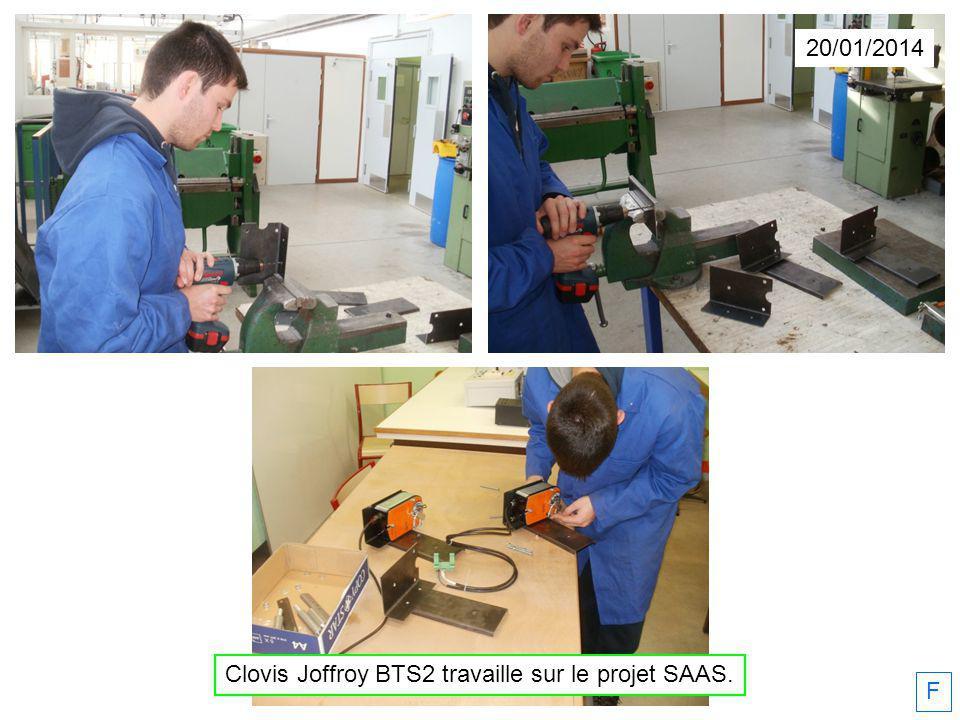 Clovis Joffroy BTS2 travaille sur le projet SAAS.