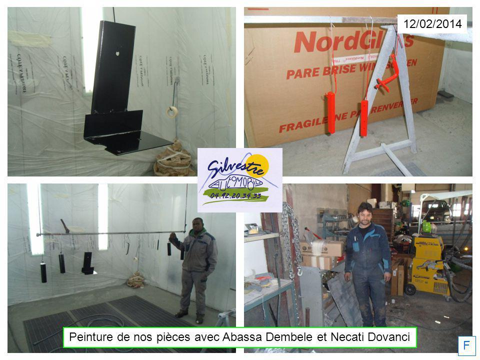Peinture de nos pièces avec Abassa Dembele et Necati Dovanci