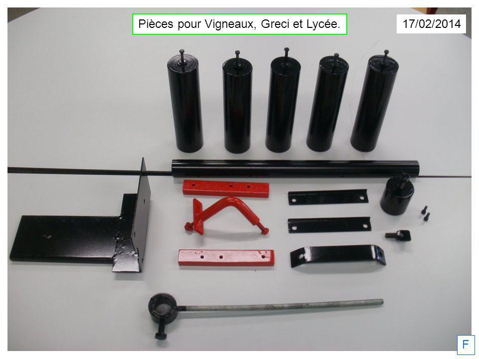 Pièces pour Vigneaux, Greci et Lycée.