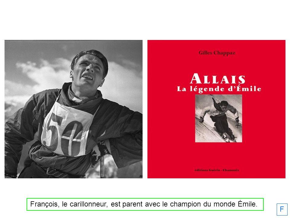 François, le carillonneur, est parent avec le champion du monde Émile.