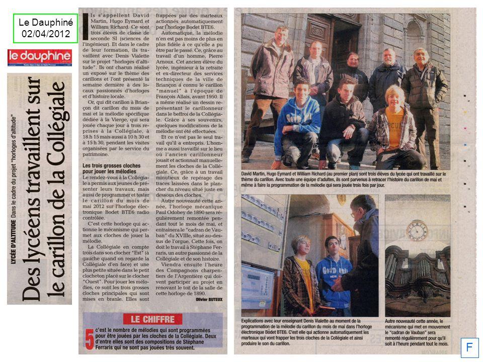 Le Dauphiné 02/04/2012 F