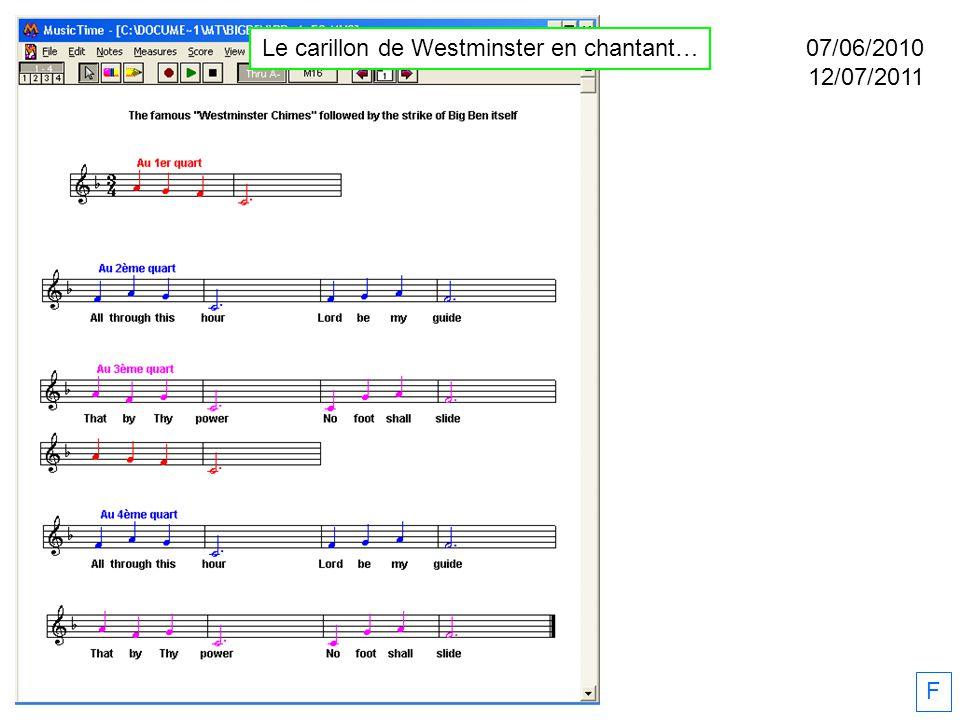 Le carillon de Westminster en chantant…