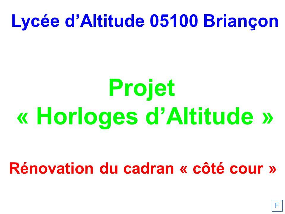 Projet « Horloges d'Altitude »