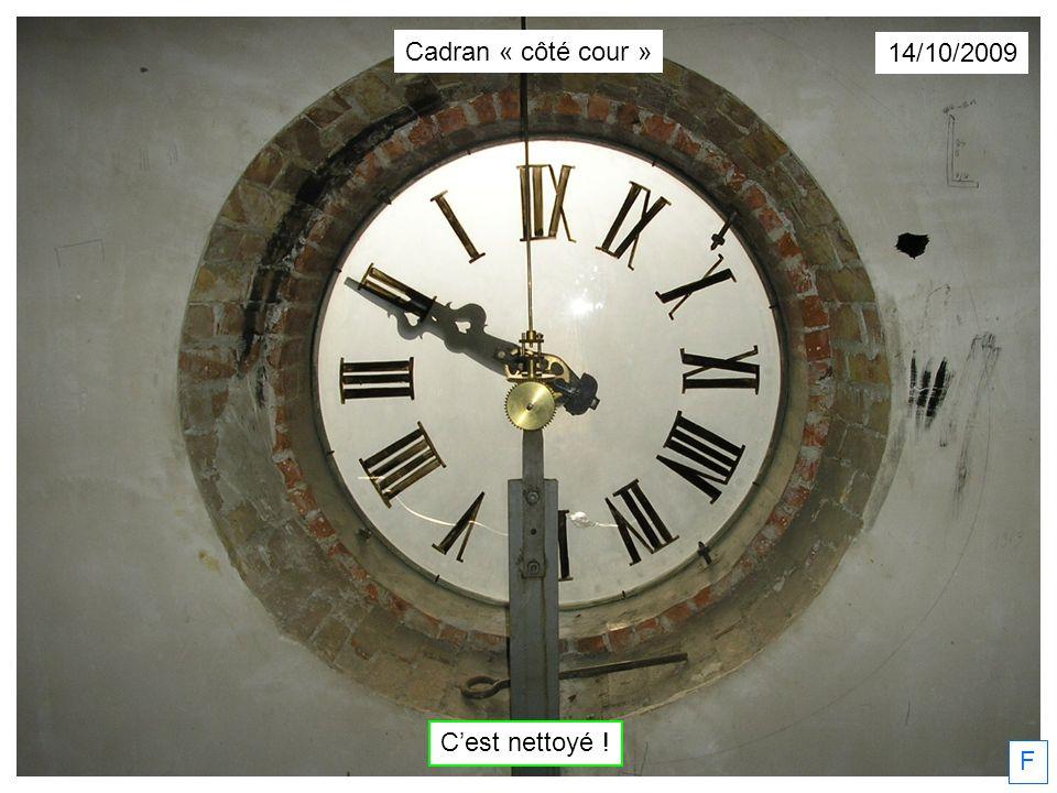 Cadran « côté cour » 14/10/2009 C'est nettoyé ! F