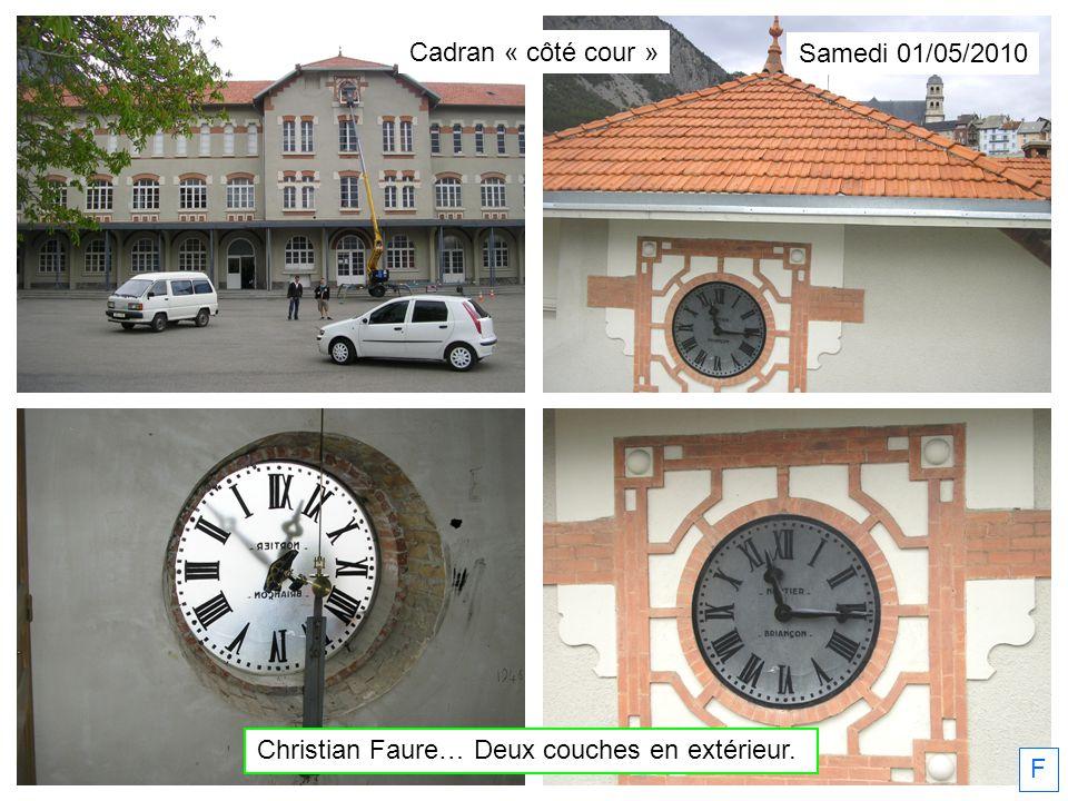 Christian Faure… Deux couches en extérieur.