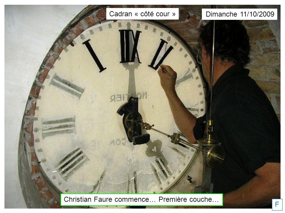 Christian Faure commence… Première couche…