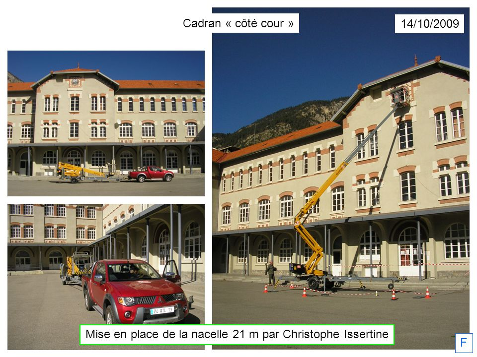 Mise en place de la nacelle 21 m par Christophe Issertine