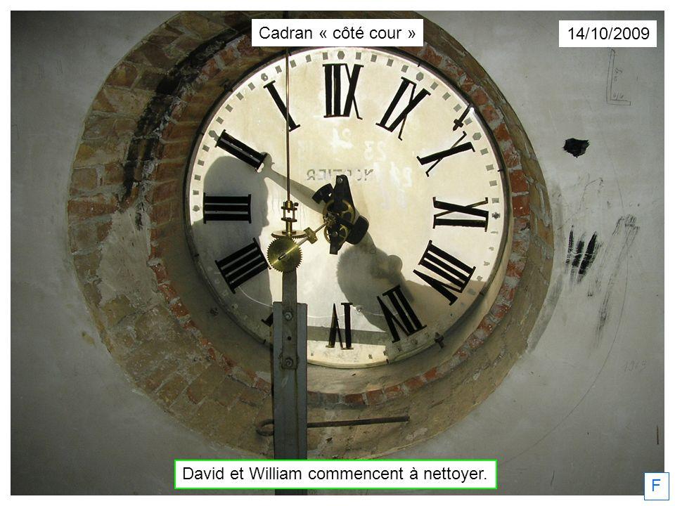David et William commencent à nettoyer.