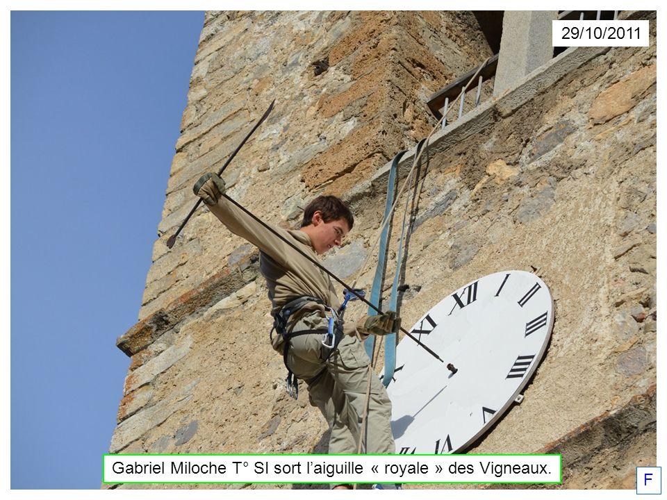 Gabriel Miloche T° SI sort l'aiguille « royale » des Vigneaux.