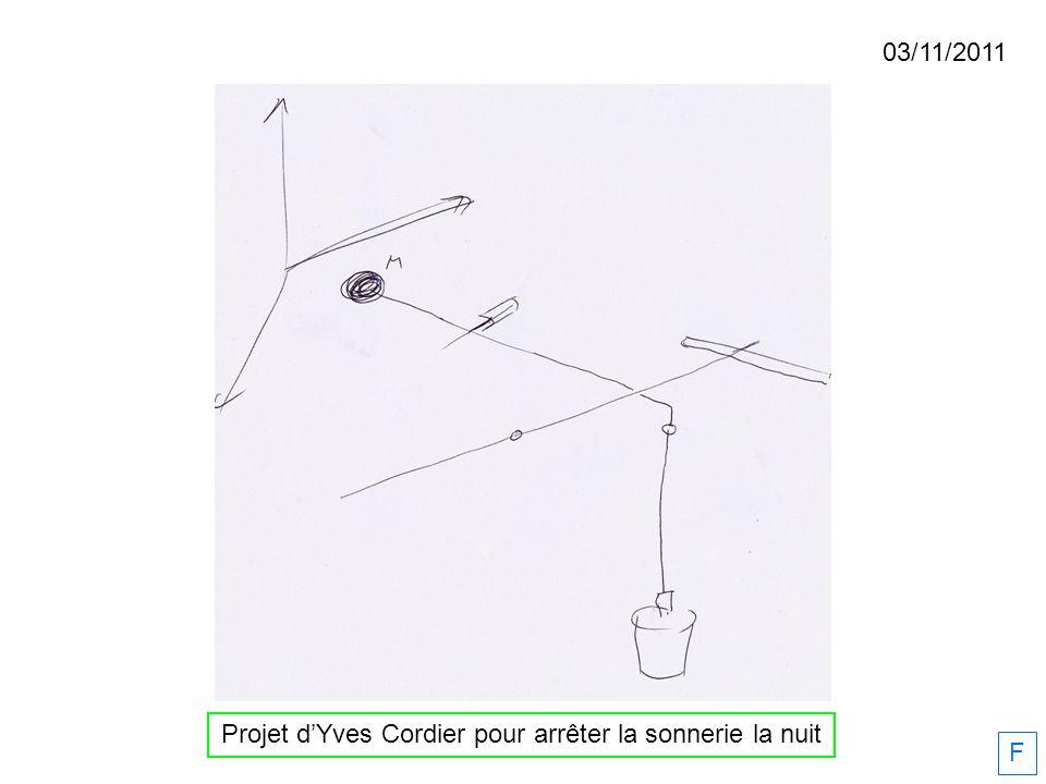 Projet d'Yves Cordier pour arrêter la sonnerie la nuit