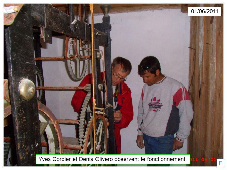 Yves Cordier et Denis Olivero observent le fonctionnement.