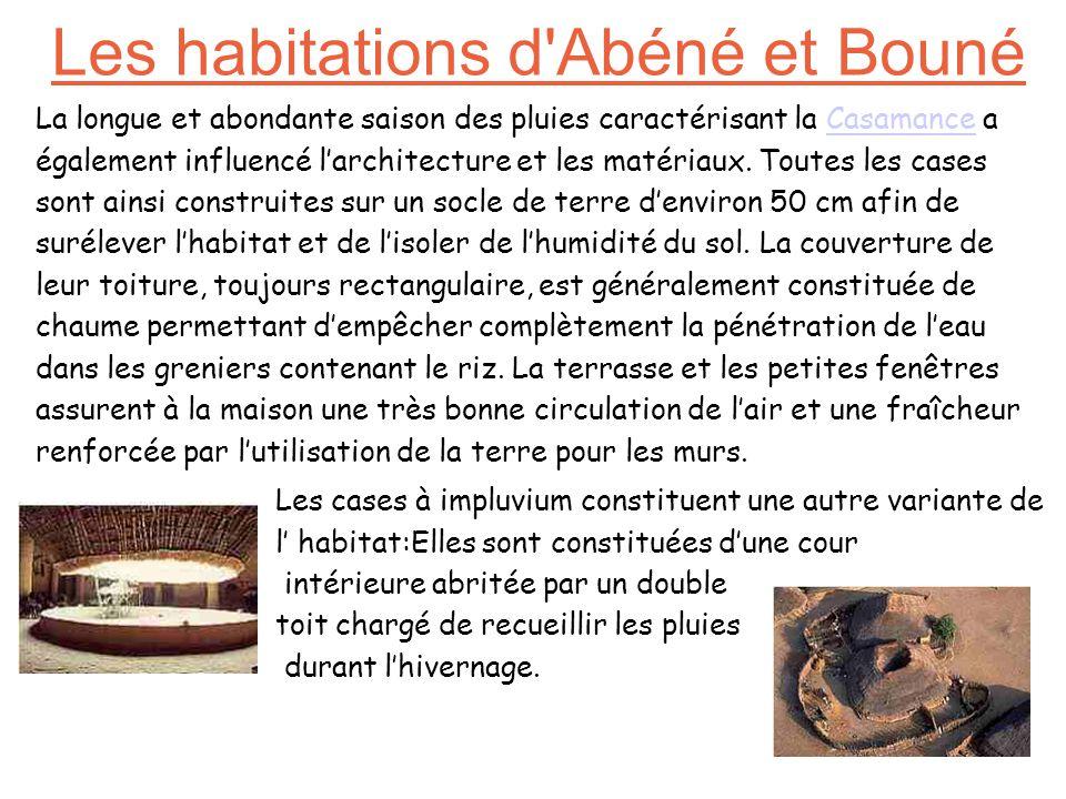 Les habitations d Abéné et Bouné