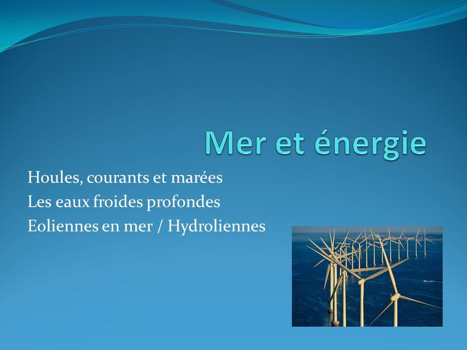 Mer et énergie Houles, courants et marées Les eaux froides profondes