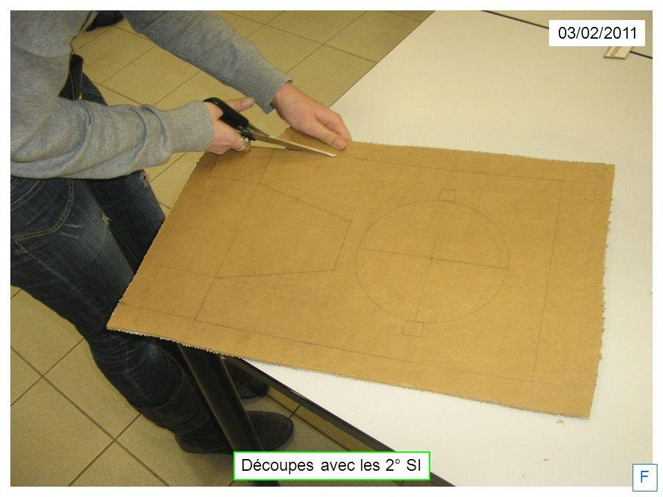 03/02/2011 Découpes avec les 2° SI F