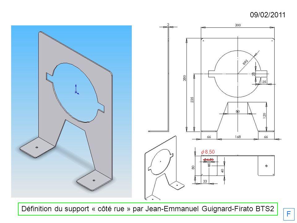 09/02/2011 f 8,50 Définition du support « côté rue » par Jean-Emmanuel Guignard-Firato BTS2 F