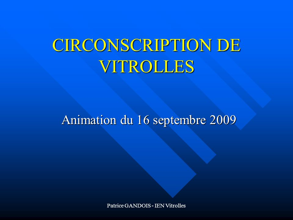 CIRCONSCRIPTION DE VITROLLES
