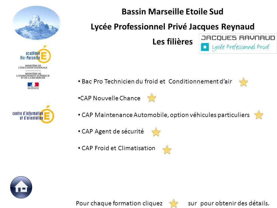 Bassin Marseille Etoile Sud Lycée Professionnel Privé Jacques Reynaud