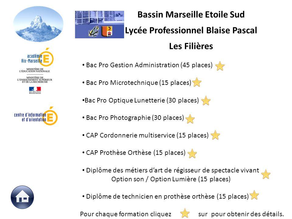 Bassin Marseille Etoile Sud Lycée Professionnel Blaise Pascal