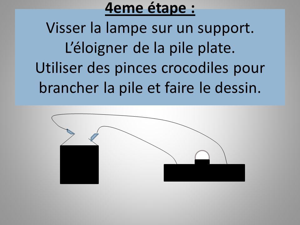 4eme étape : Visser la lampe sur un support