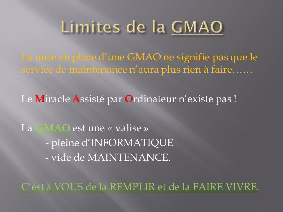 Limites de la GMAO