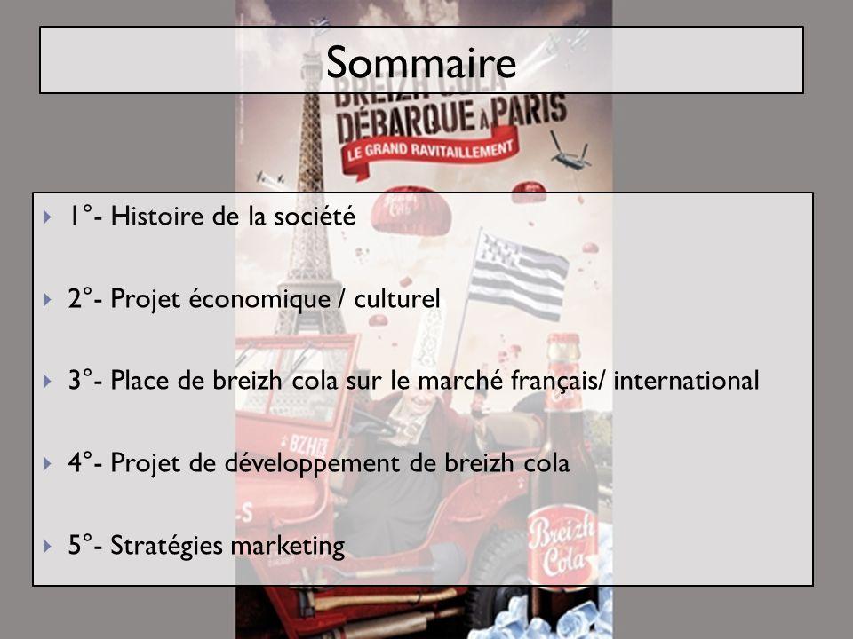 Sommaire 1°- Histoire de la société 2°- Projet économique / culturel