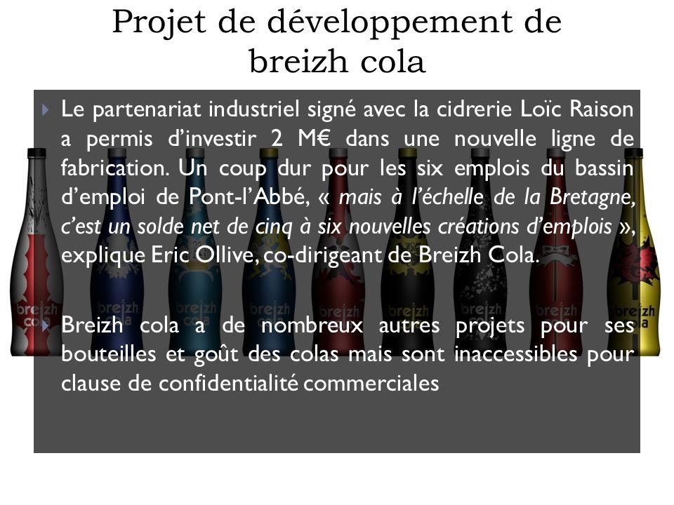 Projet de développement de breizh cola