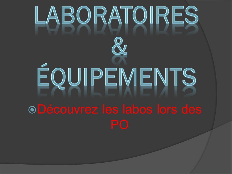 Laboratoires & équipements