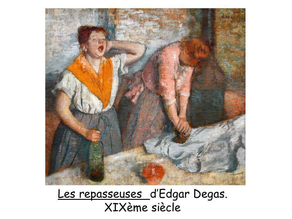 Les repasseuses d'Edgar Degas.