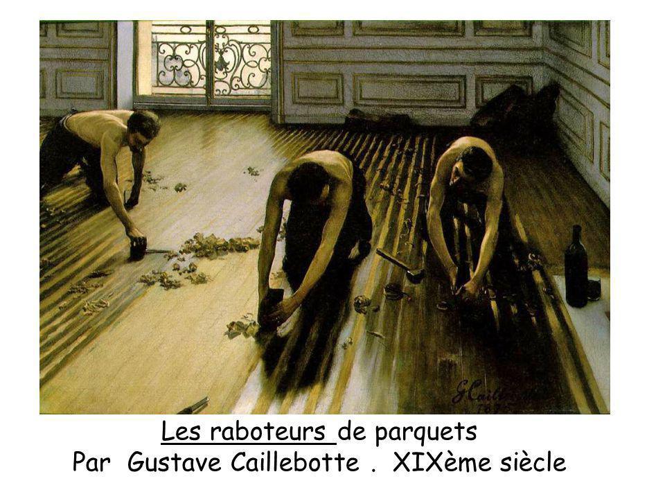 Les raboteurs de parquets Par Gustave Caillebotte . XIXème siècle