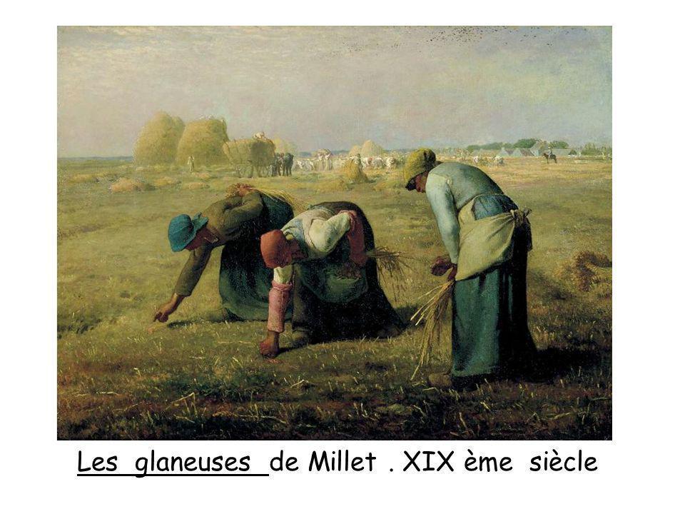 Les glaneuses de Millet . XIX ème siècle