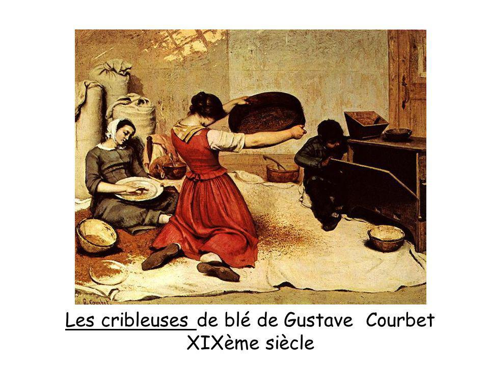 Les cribleuses de blé de Gustave Courbet