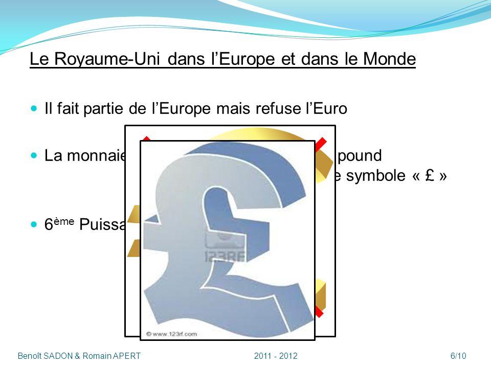 Le Royaume-Uni dans l'Europe et dans le Monde