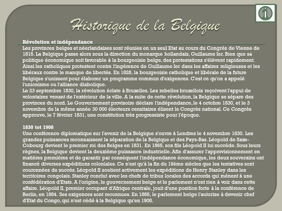 Historique de la Belgique