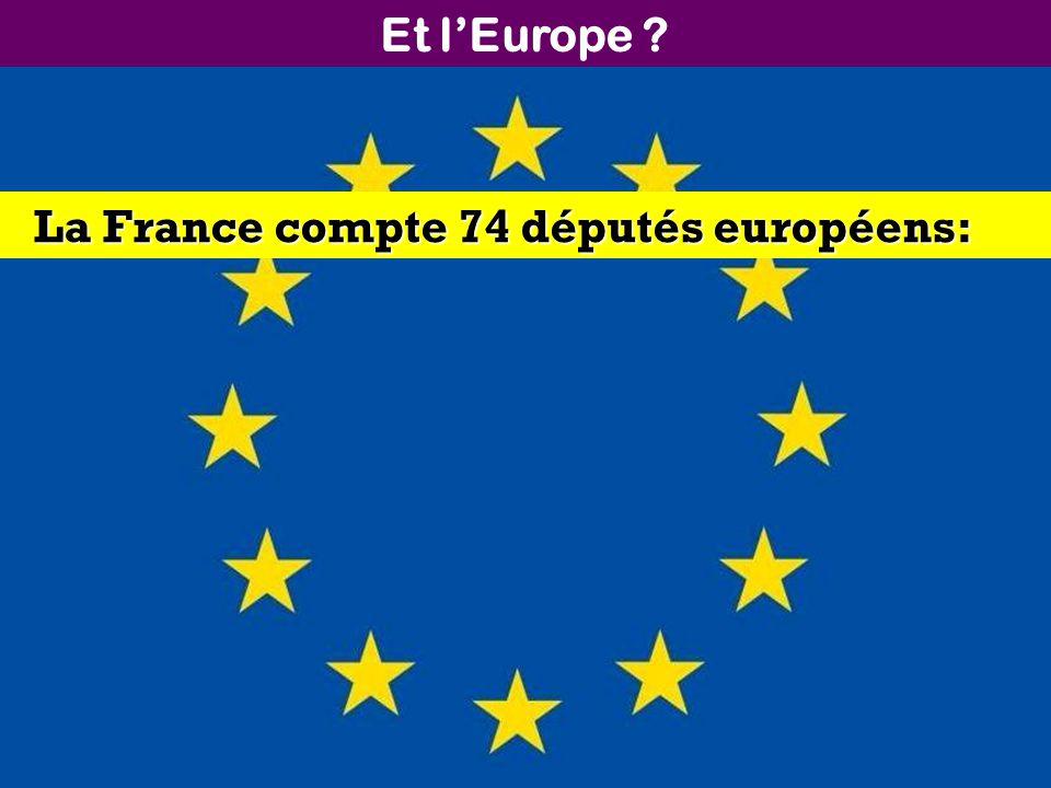 Et l'Europe La France compte 74 députés européens: