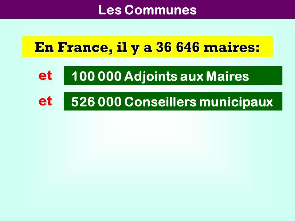 En France, il y a 36 646 maires: et et