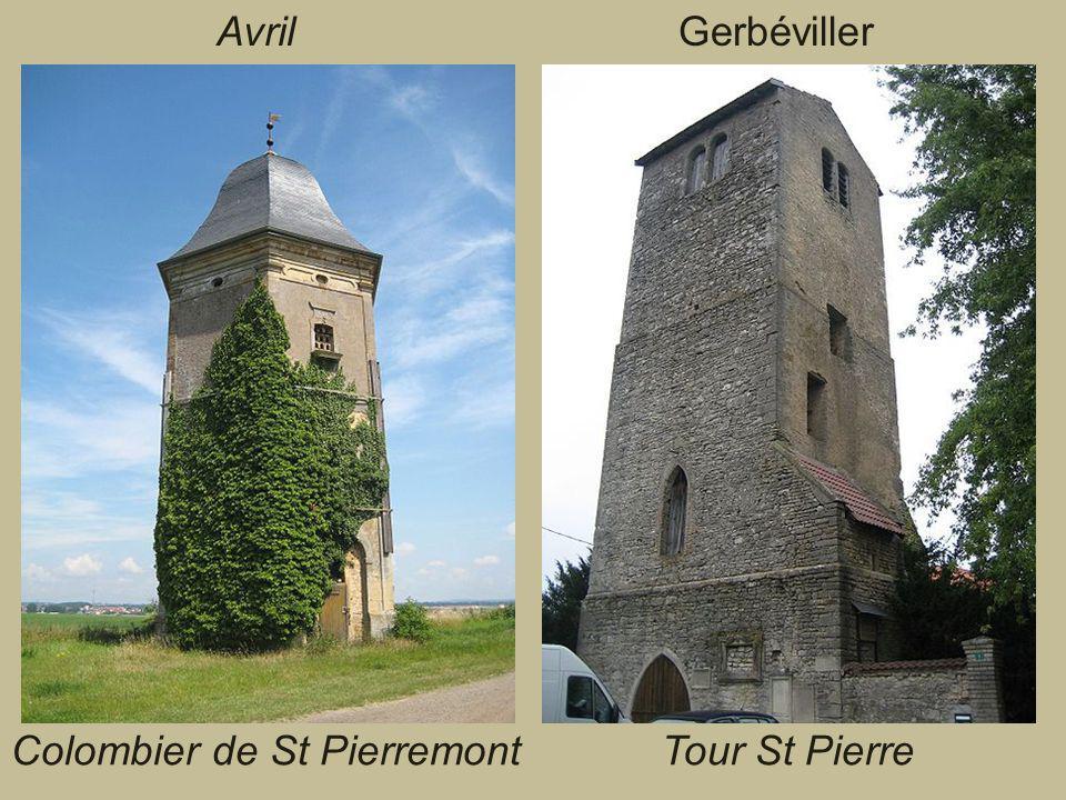 Avril Gerbéviller Colombier de St Pierremont Tour St Pierre