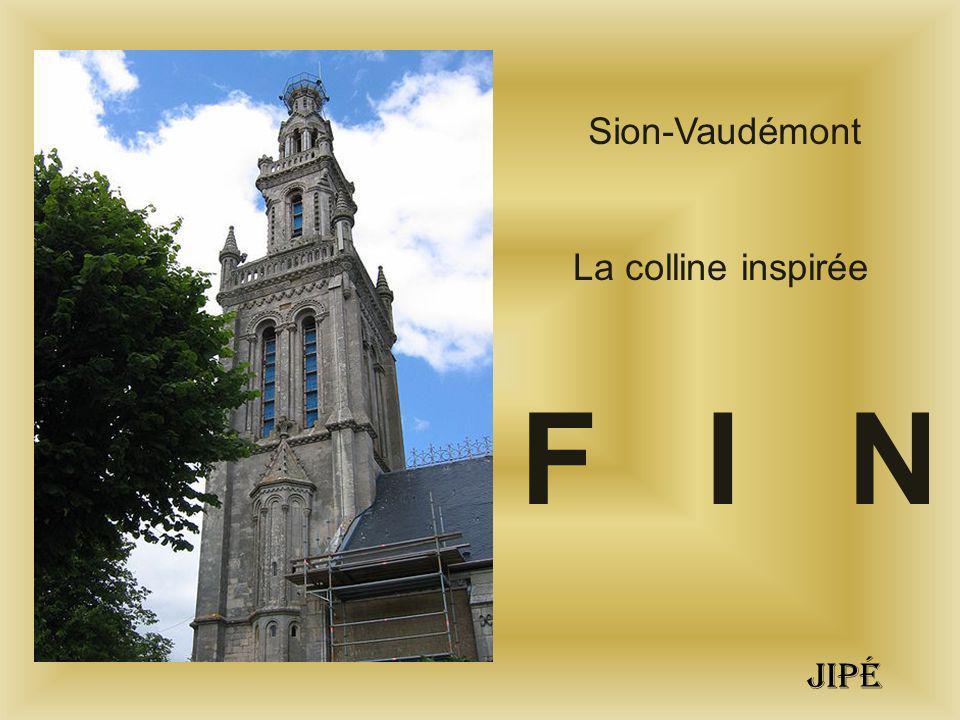 Sion-Vaudémont La colline inspirée F I N jipé