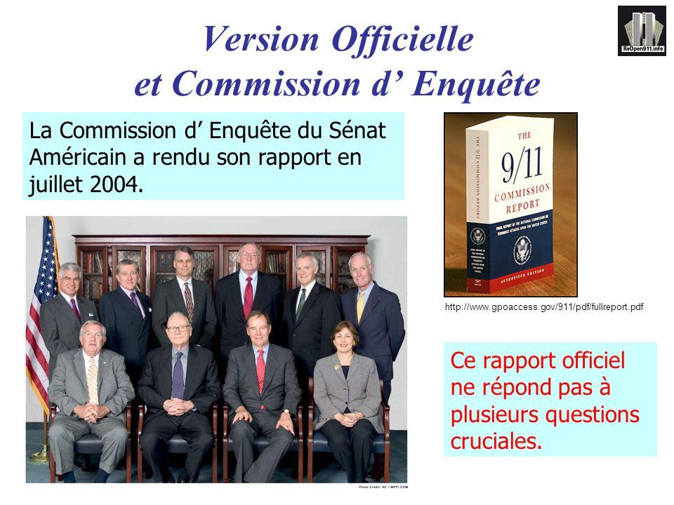 Version Officielle et Commission d' Enquête