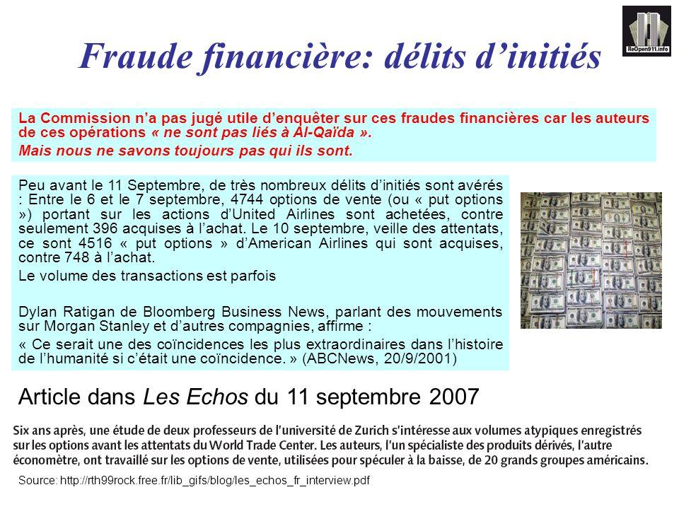 Fraude financière: délits d'initiés