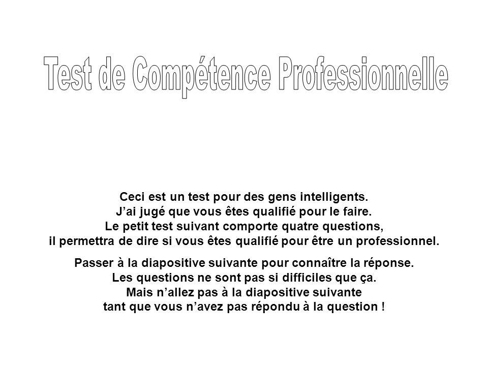 Test de Compétence Professionnelle