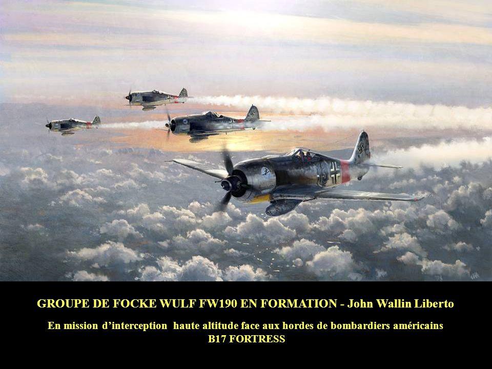 GROUPE DE FOCKE WULF FW190 EN FORMATION - John Wallin Liberto